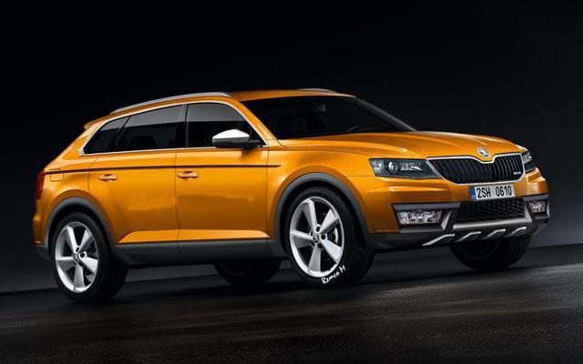 斯柯达全新SUV效果图曝光 并计划明年投产