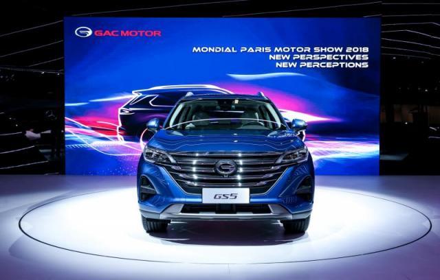 传祺GS5巴黎车展全球首发 预售价12万-17.5万元