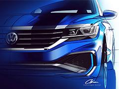 外观运动个性 新一代美版帕萨特车型设计图曝光