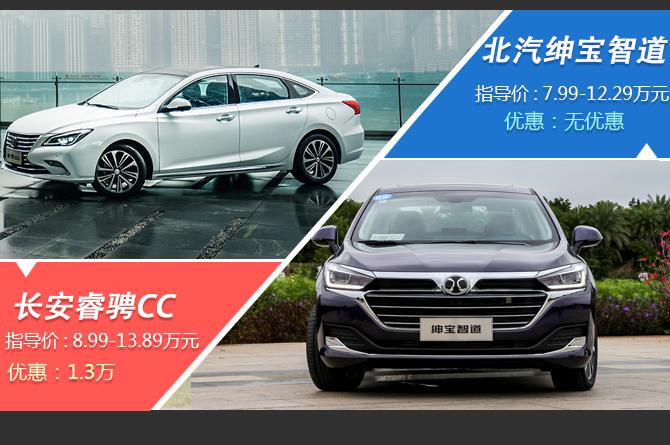 10万左右就能买到的中型轿车 绅宝智道与睿骋CC该选谁?