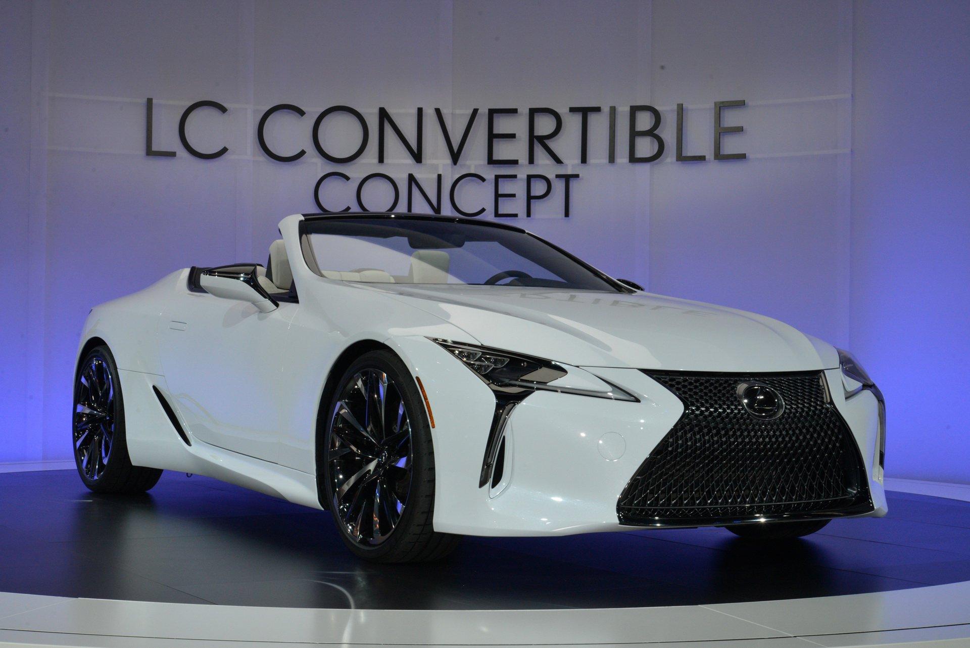 2019北美车展|最接近量产车的概念车 雷克萨斯敞篷版LC亮相