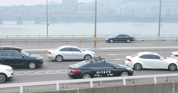 韩国在真实交通中测试5G自动驾驶汽车