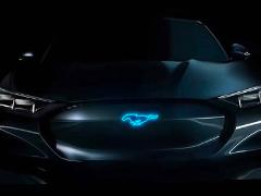 车标确定? 福特发全新电动SUV预告图