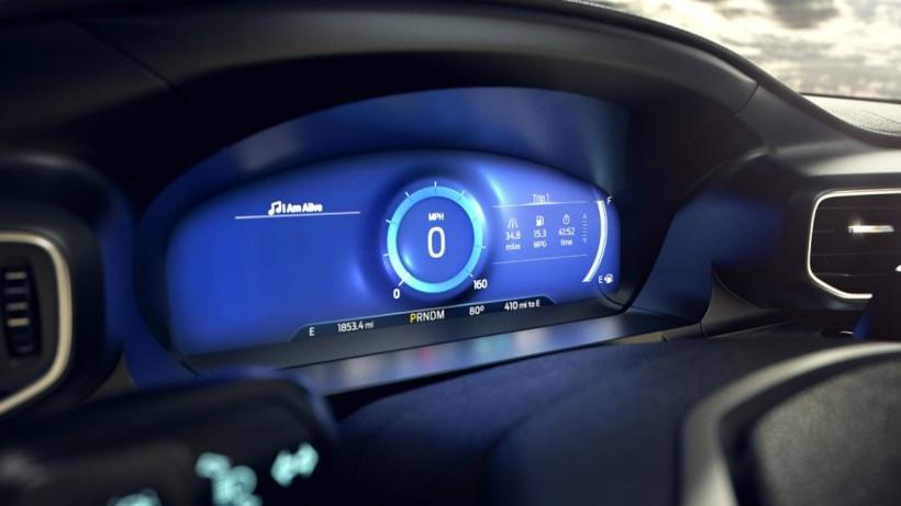 """福特新款Explorer仪表盘采用""""正念模式"""" 去除多余数据让驾驶员专注必要信息"""