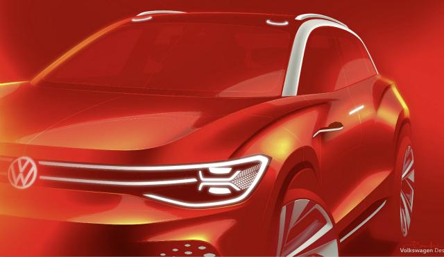 大众ID.ROOMZZ纯电动车预告图发布 将于4月14日全球首秀