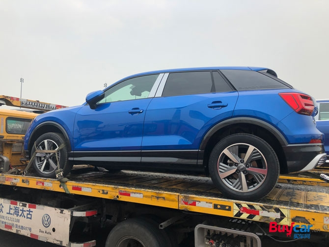 2019上海车展探馆中国市场专供 国产版奥迪Q2L e-tron抵达车展