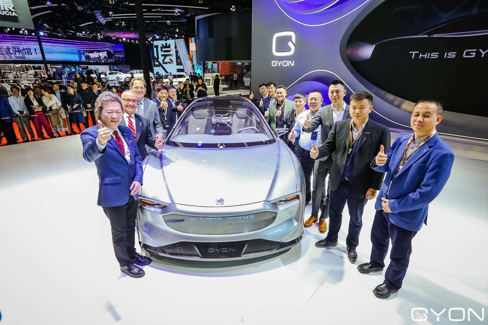 高端电动汽车品牌GYON携首款旗舰车型亮相上海车展