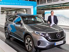 首台EQC德国下线 北京奔驰版年底见