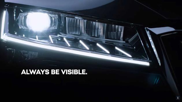 采用矩阵式LED大灯 斯柯达全新速派预告图