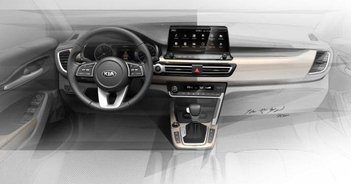 设计年轻前卫 起亚发布全新小型SUV内饰预告图