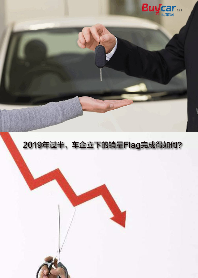 2019年过半,车企立下的销量Flag完成得如何?