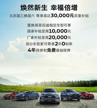 补贴最高达2万元 英菲尼迪响应北京国三车辆淘汰政策