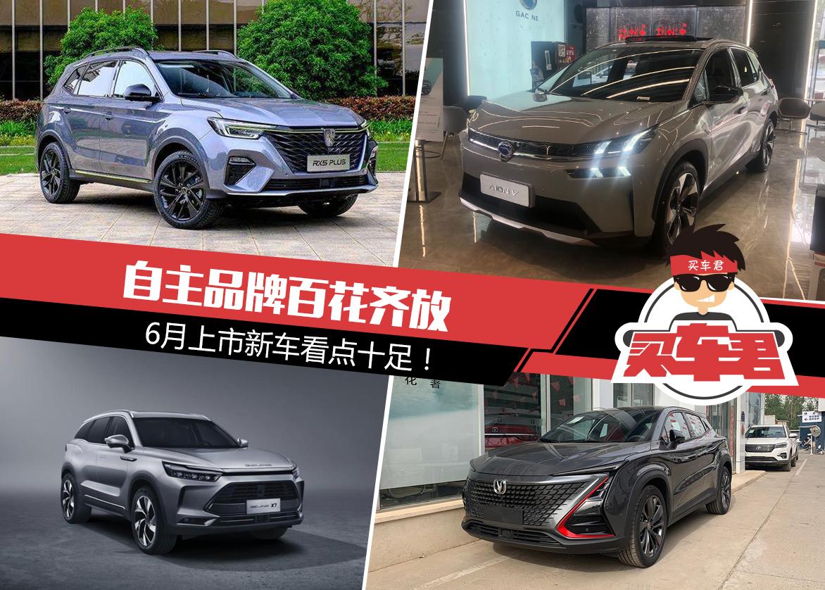 自主品牌百花齐放 6月上市新车看点十足!
