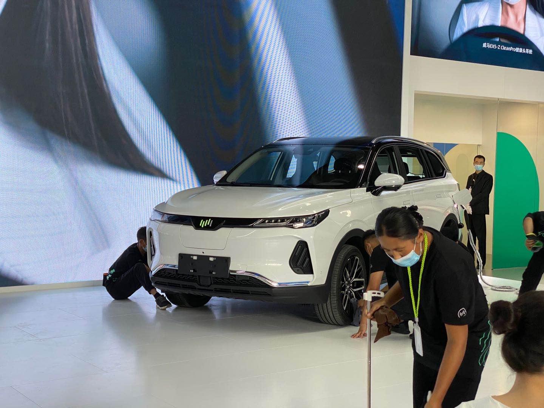 2020北京车展探馆   预售价25万 威马EX6 Plus 6座版实车曝光